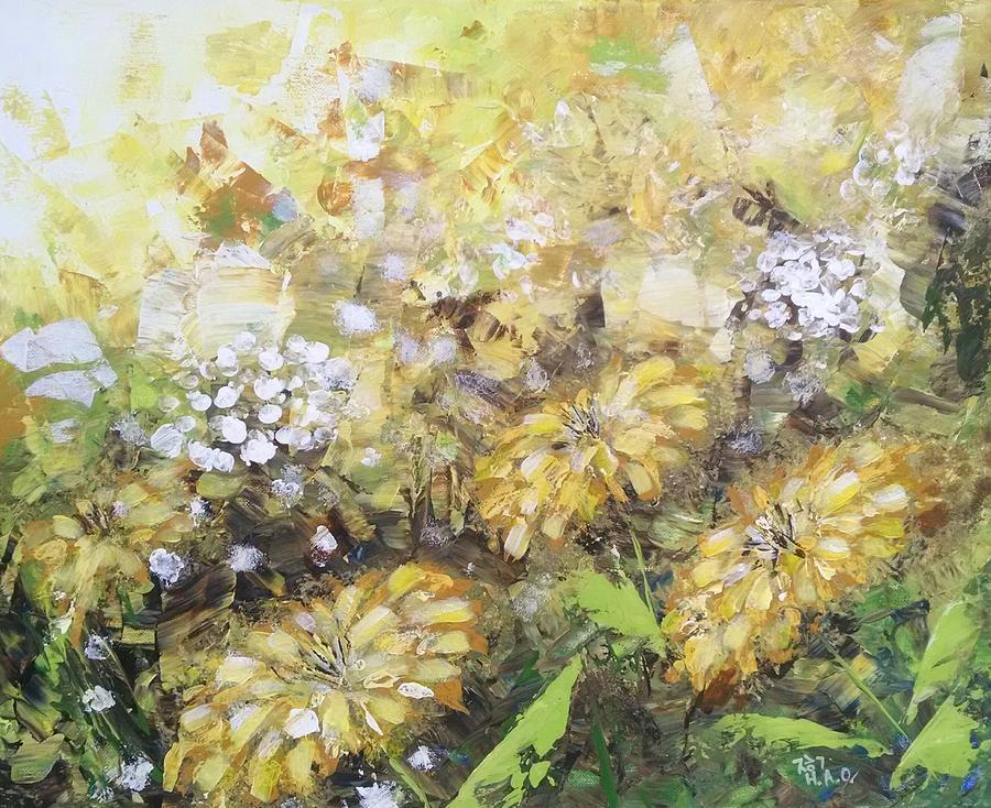 Field of Flowers by Helian Osher