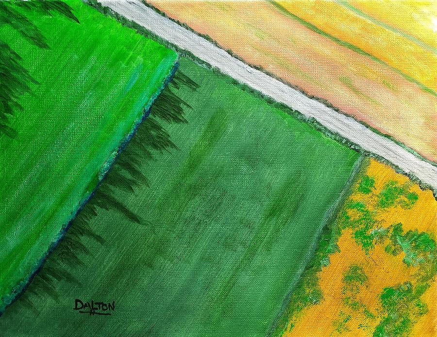 Field Painting - Fields Of Green by George Dalton