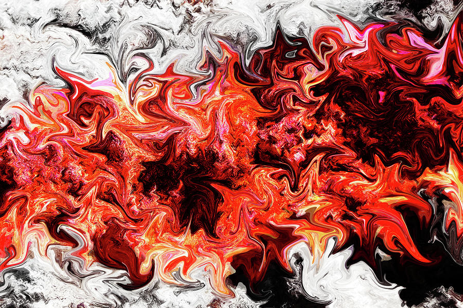 Fiery Abstract by Simone Hester