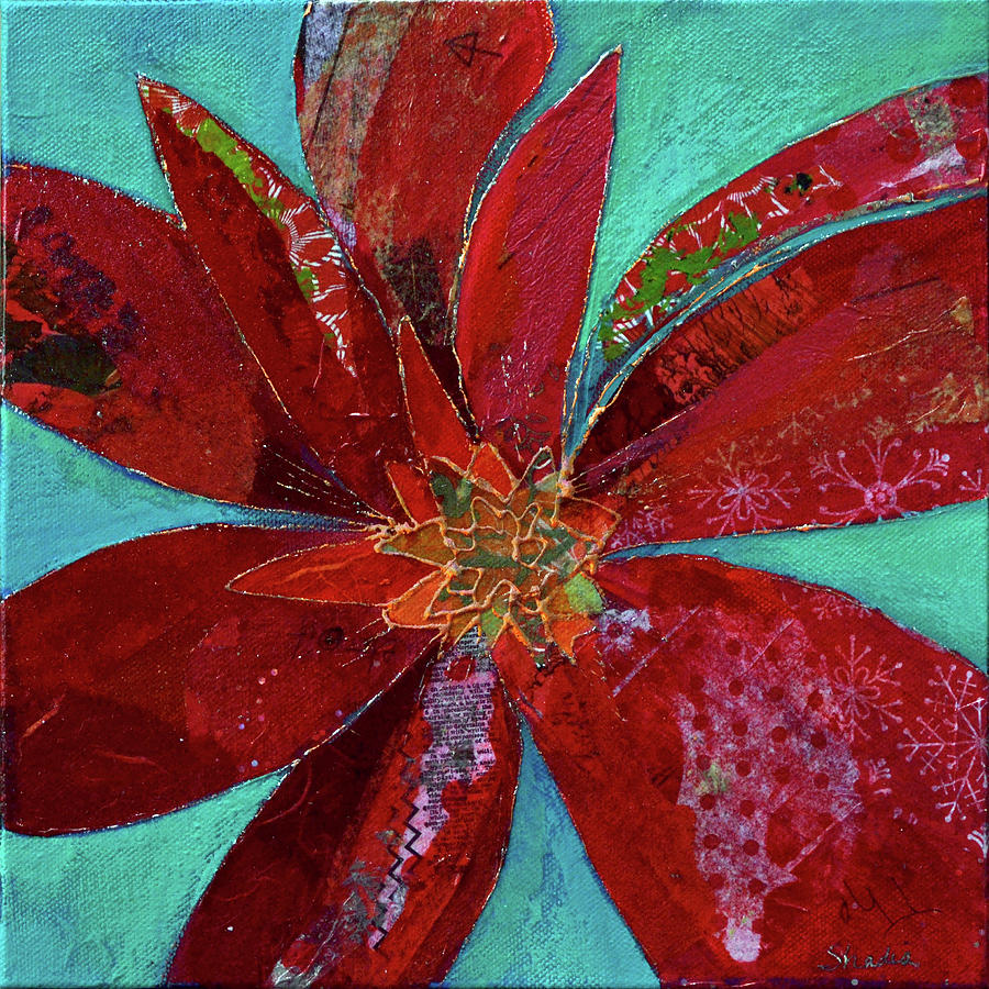 Bromeliad Painting - Fiery Bromeliad I by Shadia Derbyshire
