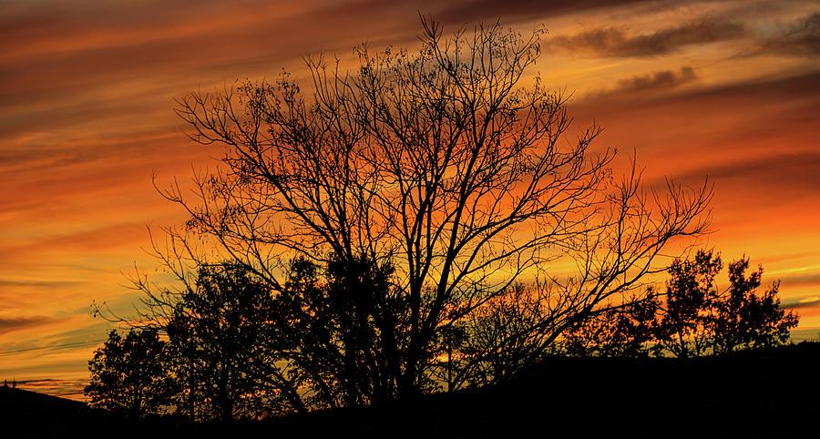 Landscape Photograph - Fiery dusk by Michael Briley