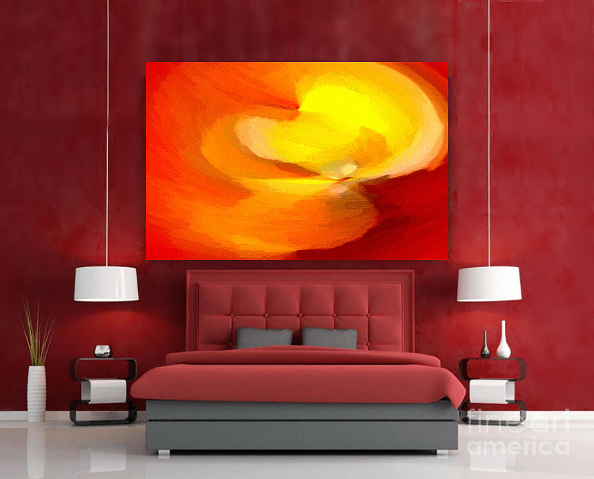Marvelous Fiery Flame Abstract Painting Interior Decor By Delynn Addams Download Free Architecture Designs Embacsunscenecom