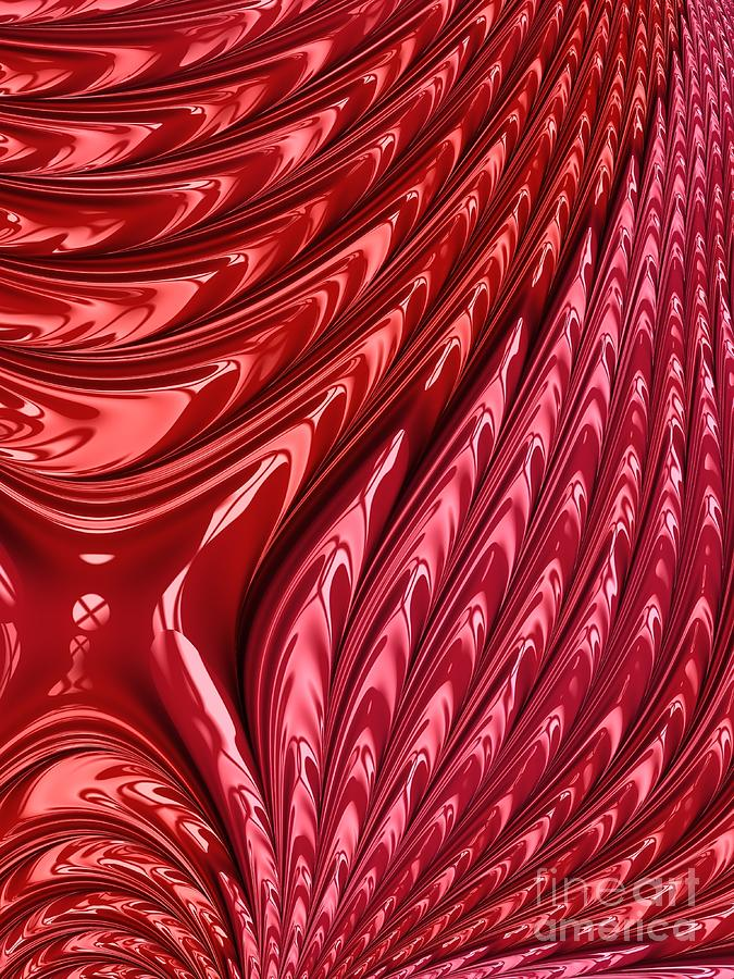 Fiery Red Flames of Love Fractal Abstract by Rose Santuci-Sofranko