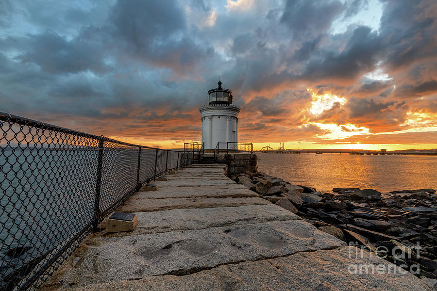 Fiery Skies at Bug Light by Jesse MacDonald