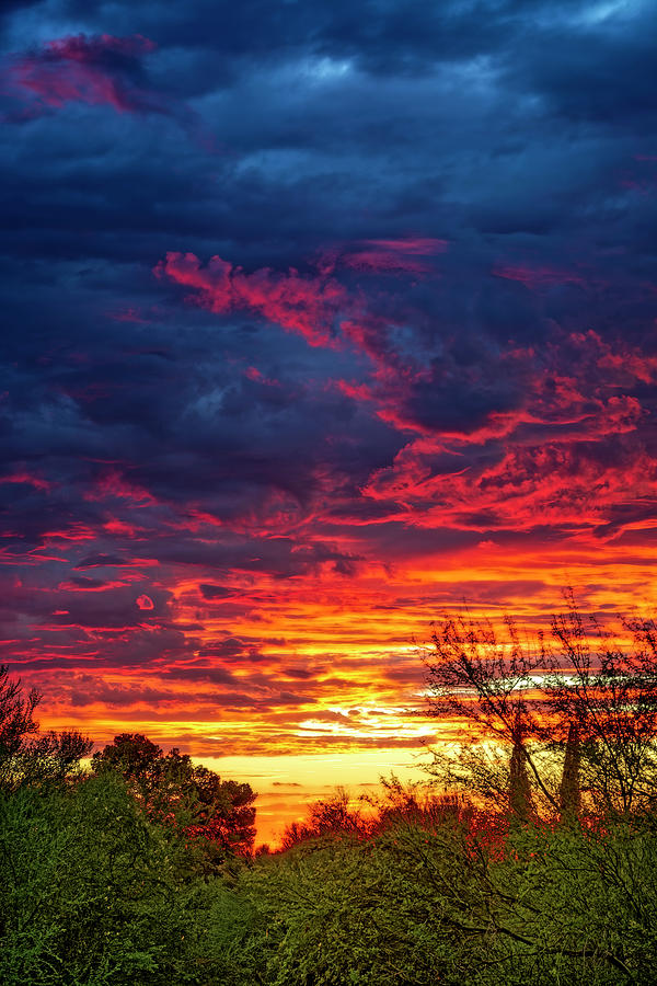 Fiery Sunset V1650 Photograph