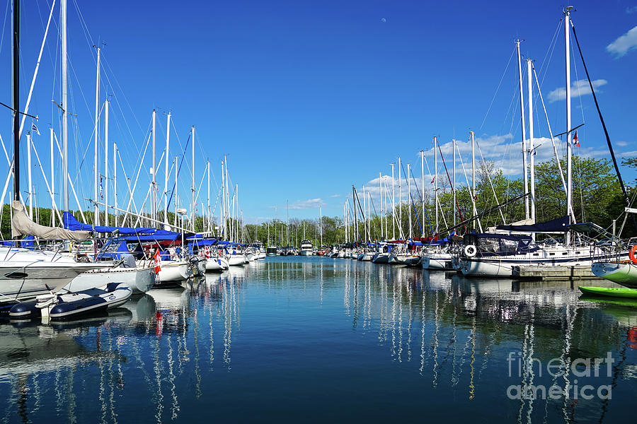 Fifty Point Marina Reflections by Rachel Cohen