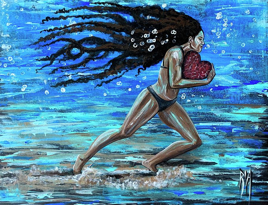 Runner Painting - Fight the fine fight of the faith by Artist RiA
