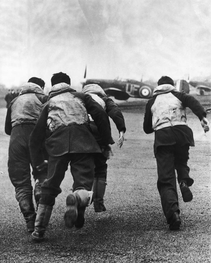 Fighter Pilots Scramble Photograph by William Vanderson