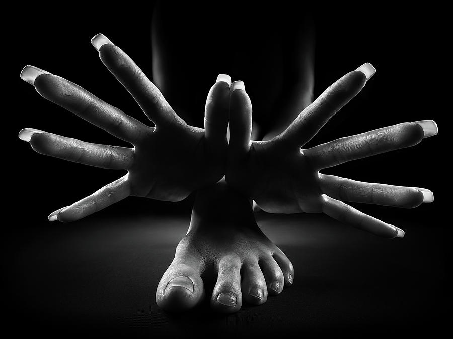Hands Photograph - Figurative Body Parts 2 by Johan Swanepoel