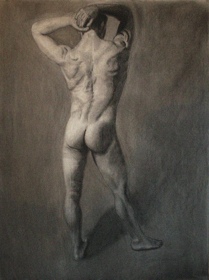 Figure Drawing - Male Model #2 by Debbie Davidsohn