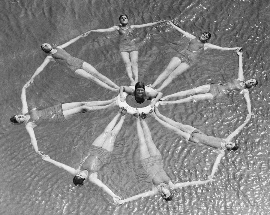 Figure Swimming Photograph by William Vanderson