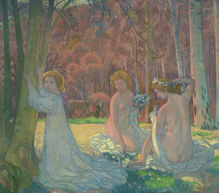 Maurice Denis Painting - Figures In A Spring Landscape, 1897 by Maurice Denis