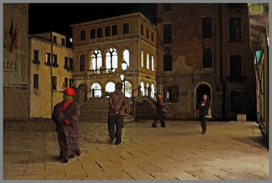 Figures in the Piazza by Guy Ciarcia
