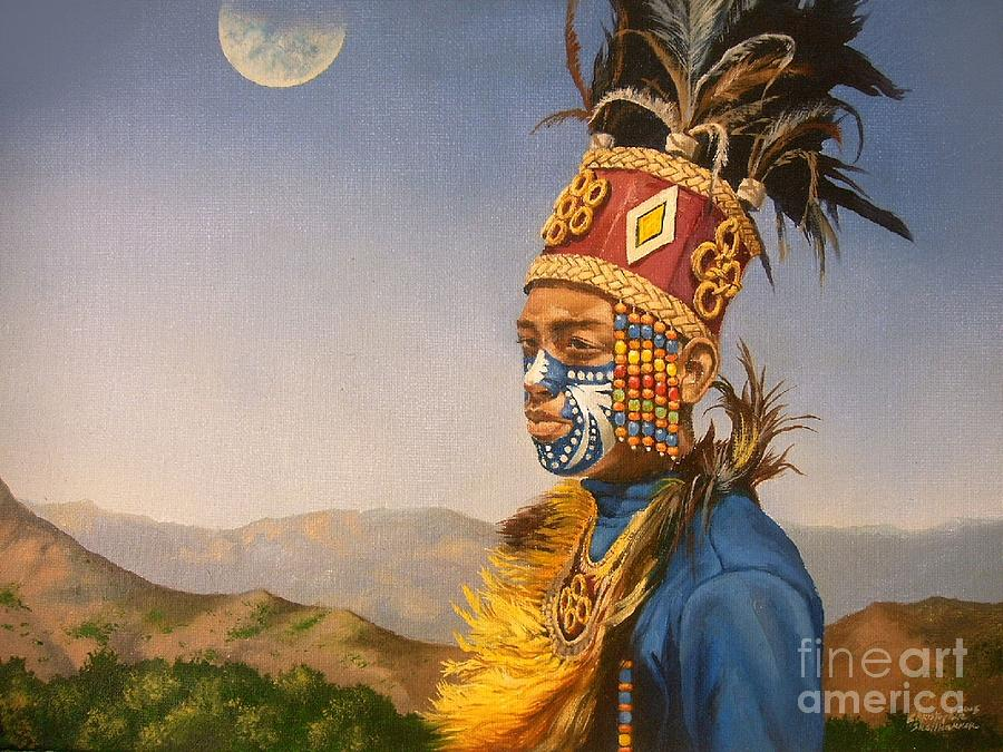 Filipino Dancer in oil painting by Christopher Shellhammer