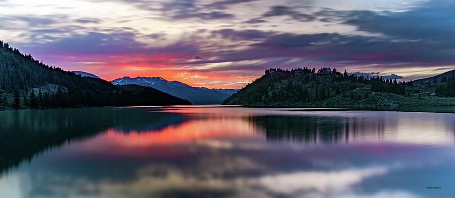 Final Sunset At Summit Cove by Stephen Johnson