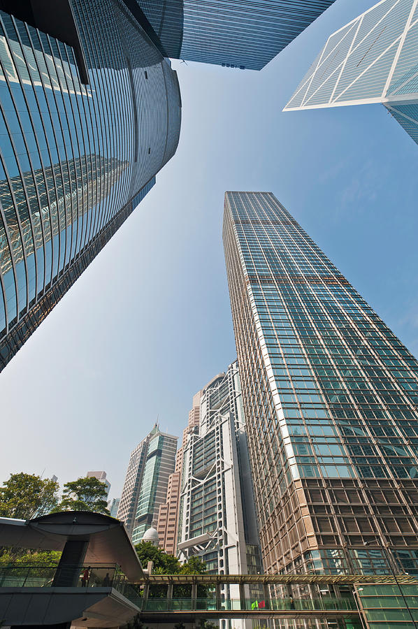 Financial District Downtown Skyscrapers Photograph by Fotovoyager