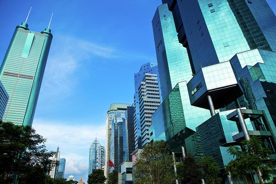 Financial District In Shenzhen, China Photograph by Kanmu