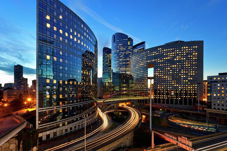 Financial District, La Defense, Paris Photograph by Sylvain Sonnet