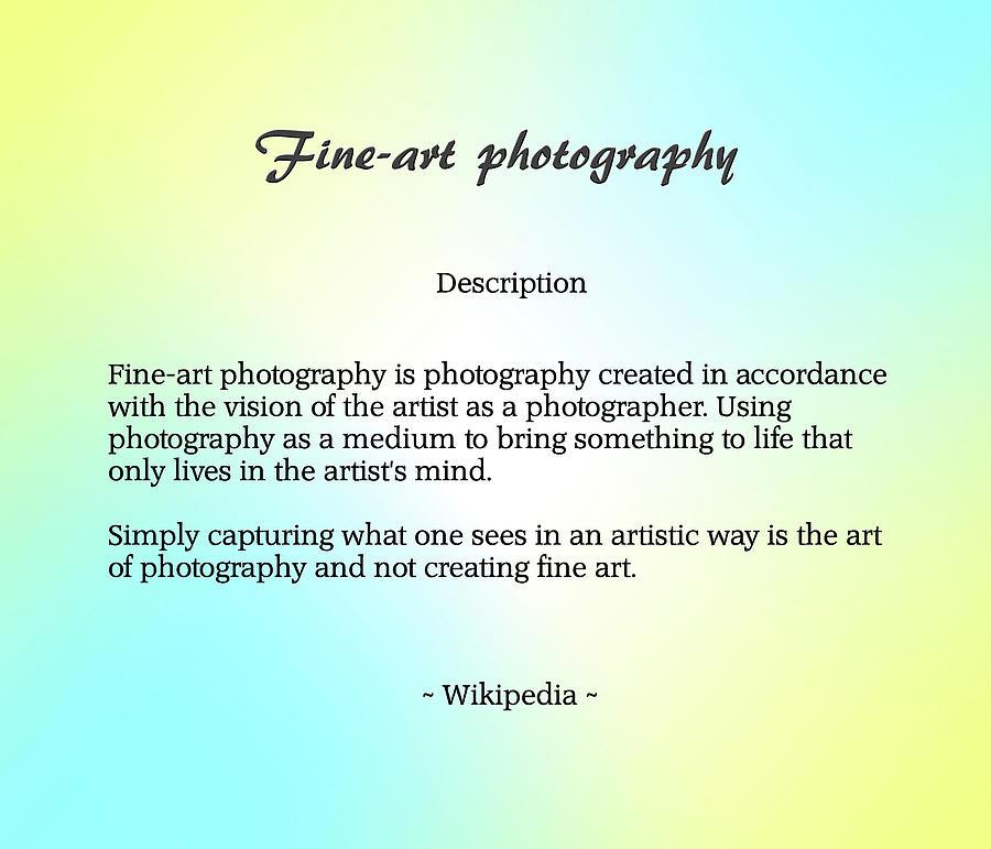 Fine-art Photography Description