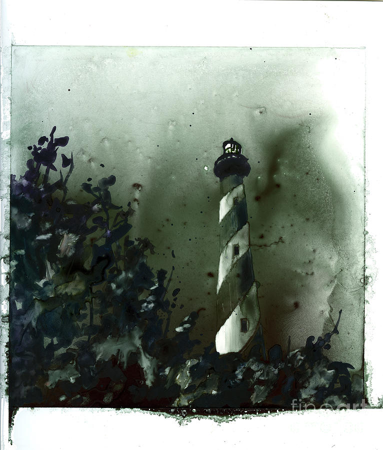Fine art watercolor painting on YUPO synthetic of Cape Hatteras  by Ryan Fox