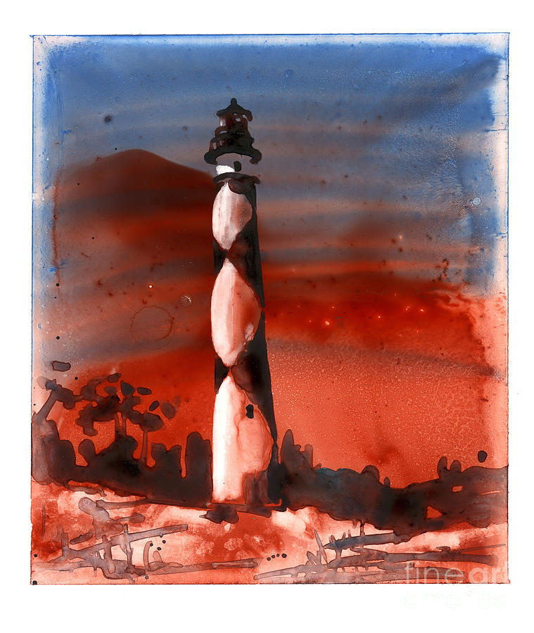 Fine art watercolor painting on YUPO synthetic of Cape Lookout l by Ryan Fox