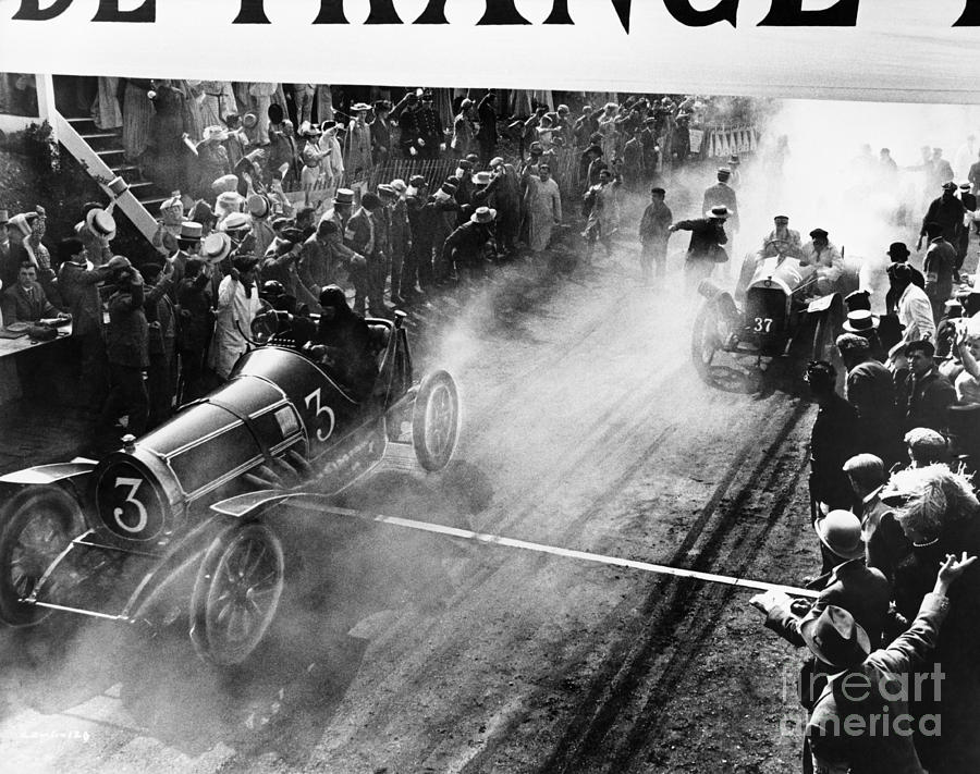 Streets Photograph - Finish Line At Auto Race by Everett Collection