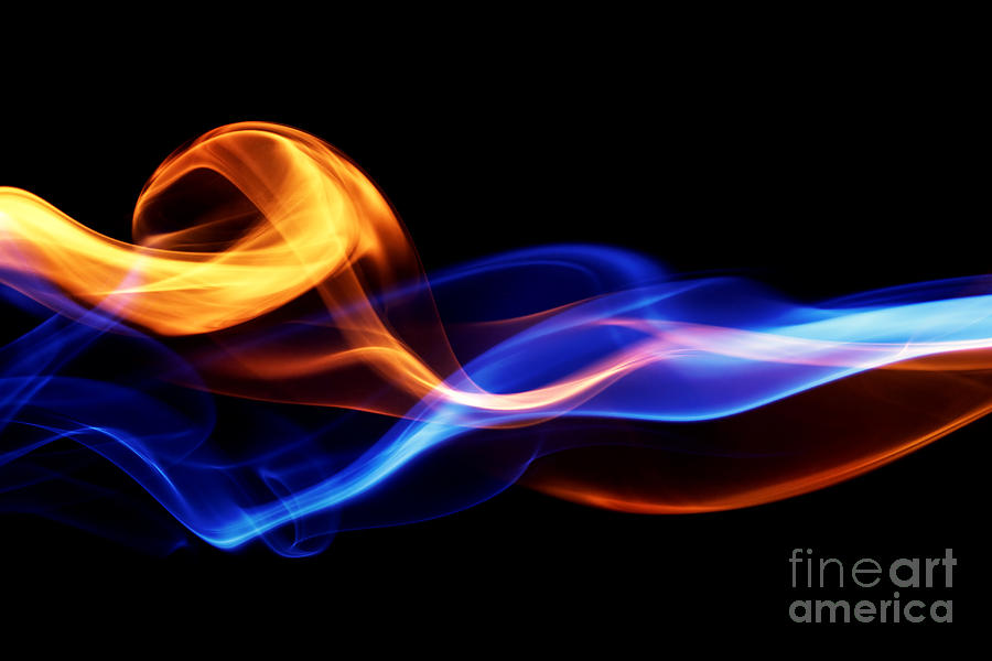 Template Digital Art - Fire & Ice Design by Leigh Prather