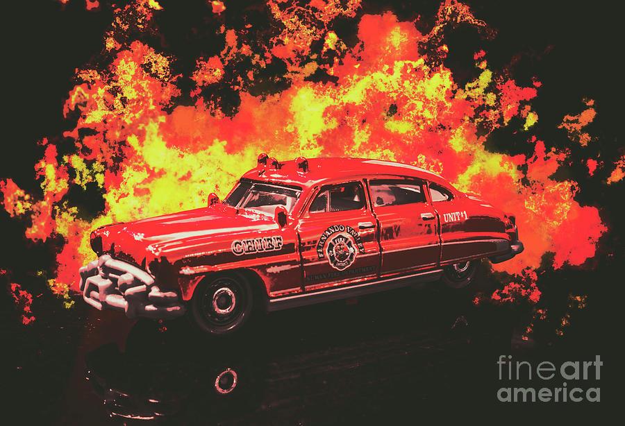 Firetruck Photograph - Fire Hornet by Jorgo Photography - Wall Art Gallery