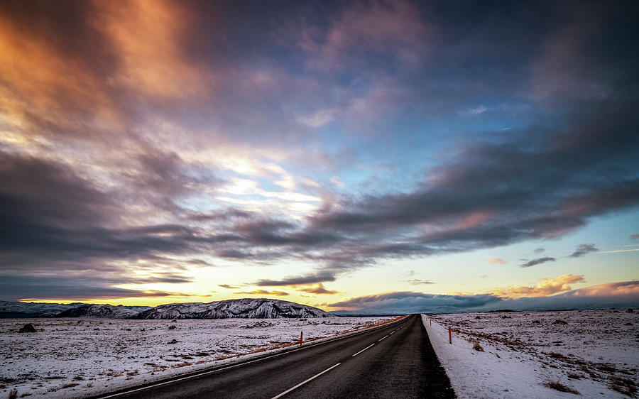 Iceland Photograph - Fire in the Sky by Framing Places