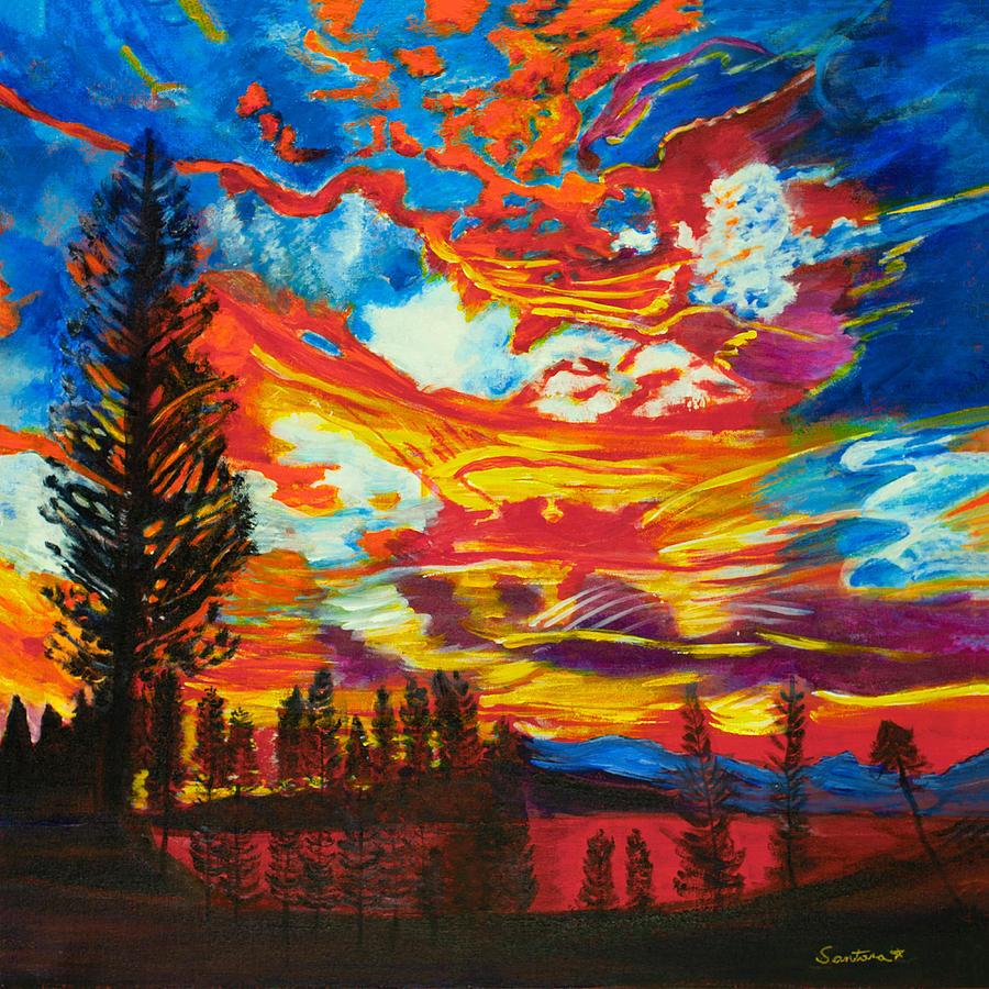 Fire in the Sky 20x20 by Santana Star