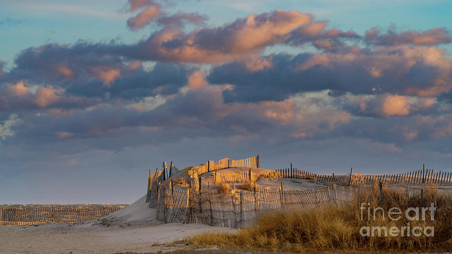 Fire Island Dune at Sunset by Sean Mills