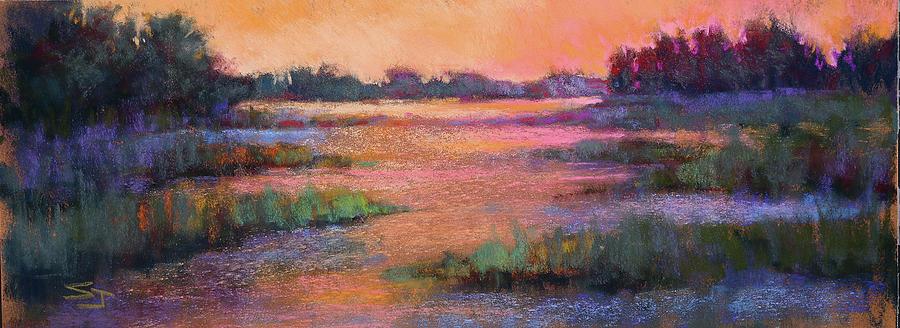 Marshland Painting - Fire Marsh by Susan Jenkins