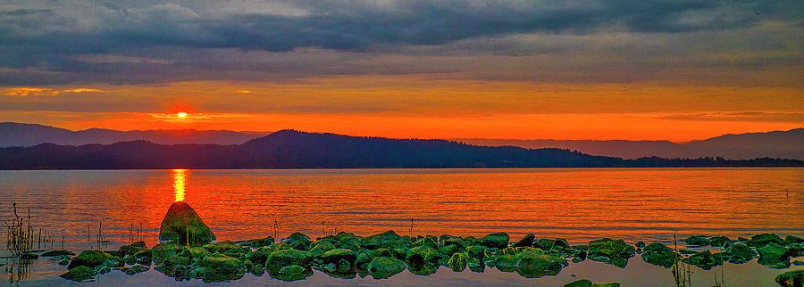 Lake Photograph - Fire Rock by Tom Gresham