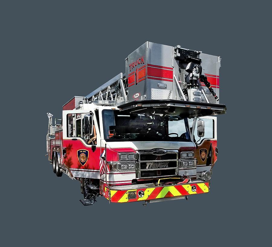 Fire Truck With Open Door by Susan Savad