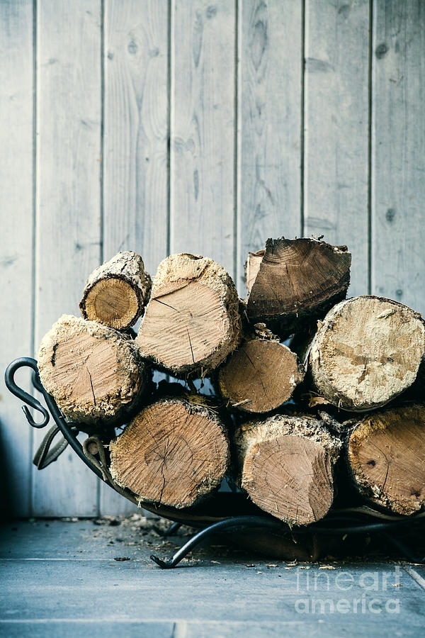 Stack Photograph - Fire Wood.  Home Living Concept by Mervas