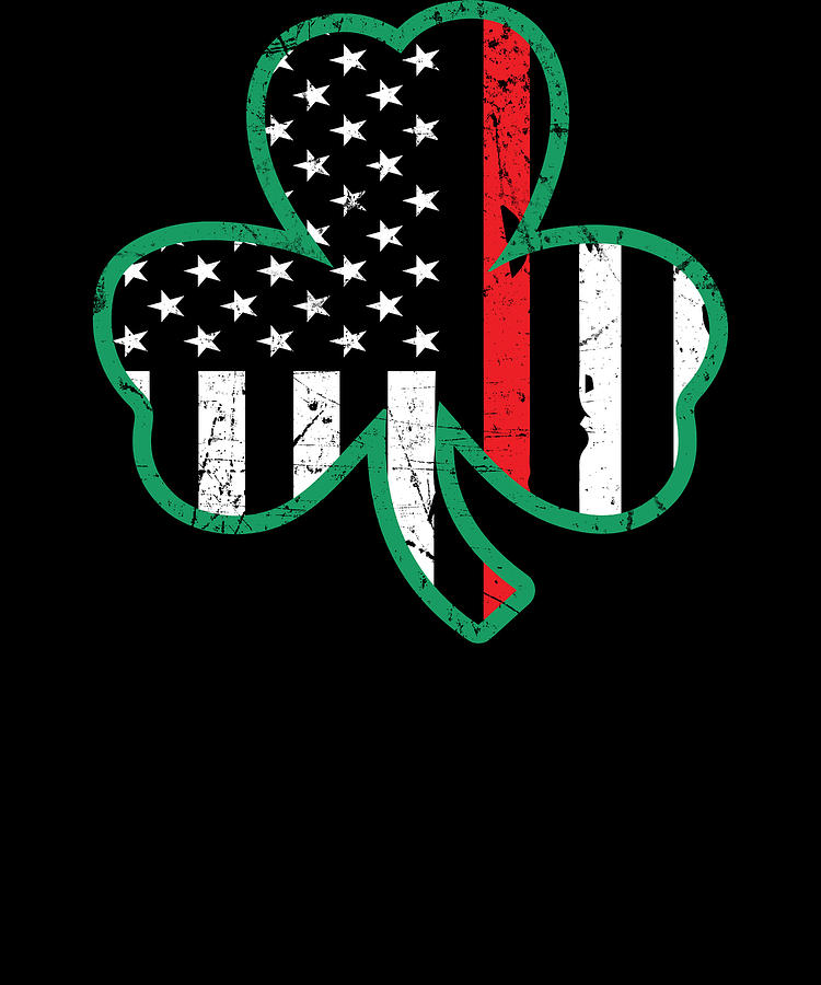 69469476 Firefighter St Patricks Day Thin Red Line Clover Apparel. The perfect tee  ...