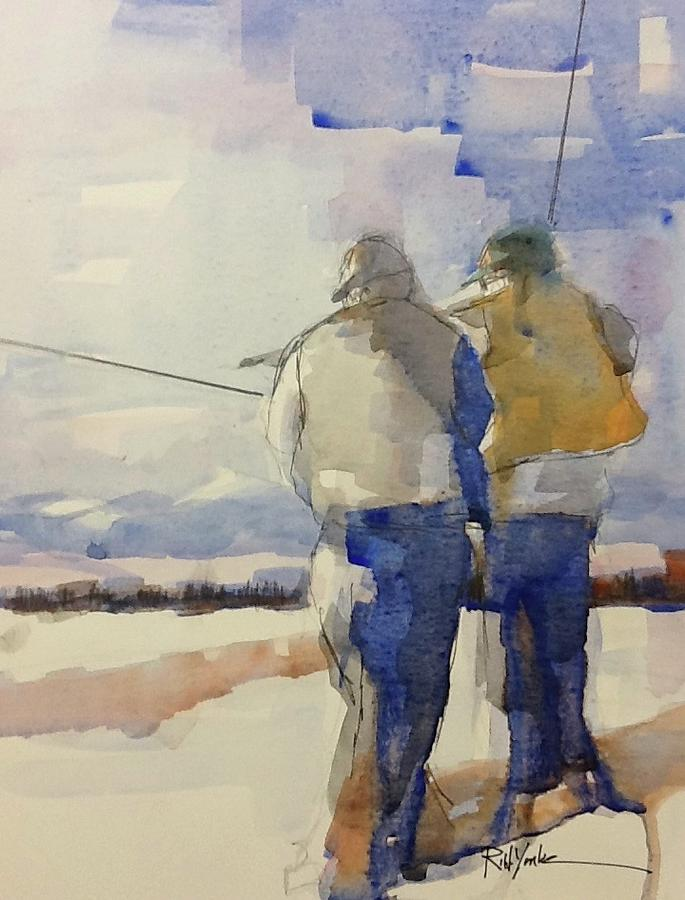 Fly Fishing Painting - Firehole Guide by Robert Yonke