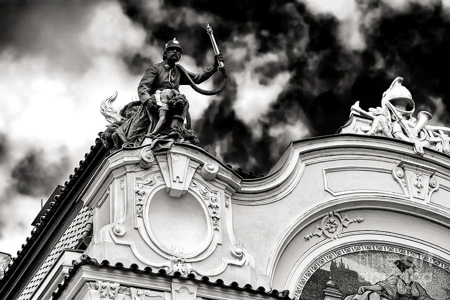 Fireman Photograph - Firemans Rescue In Prague by John Rizzuto