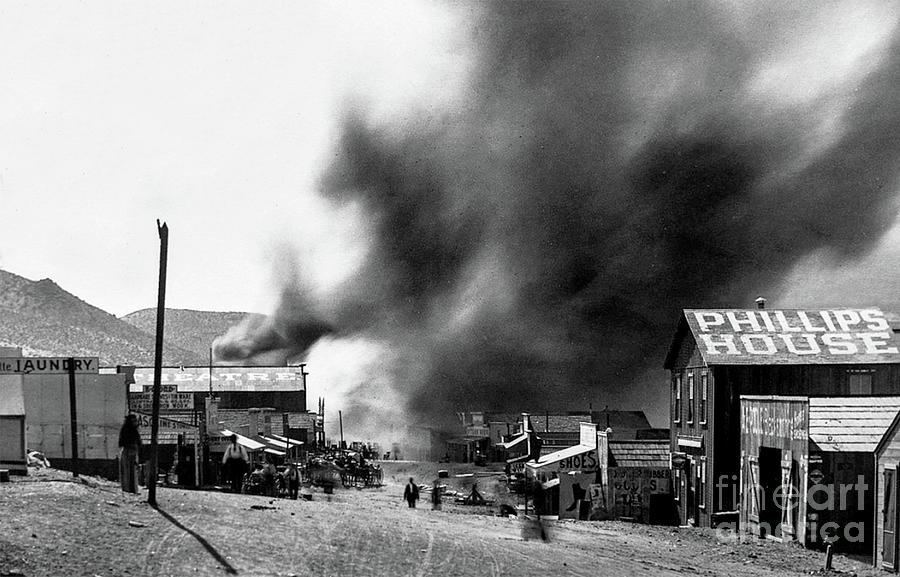Fires Ravage Randsburg, CA - circa 1898 by Doc Braham