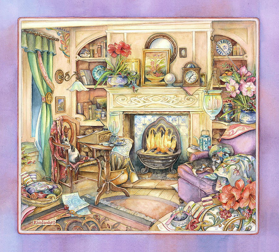 Warm Painting - Fireside Embroidery by Kim Jacobs