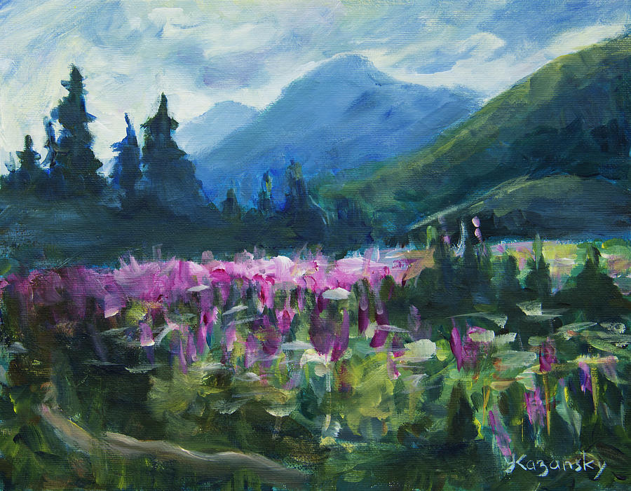 Fireweed at the end of the road by Yulia Kazansky
