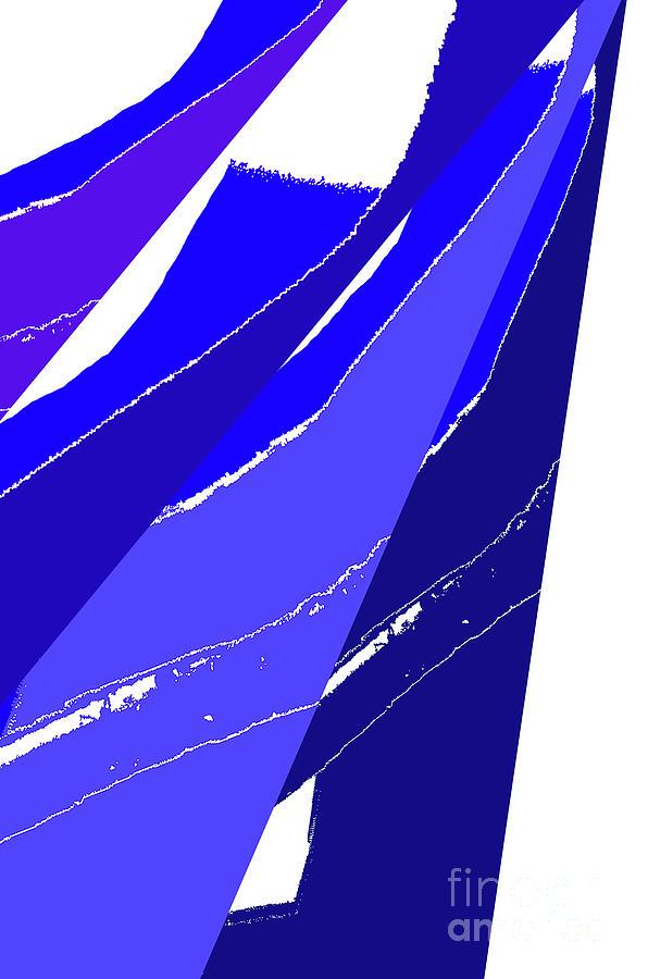 Minimal Digital Art - Firewood Digital Blue by Poster Book