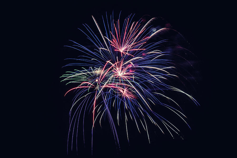 4th Of July Photograph - Firework 2019 Five by Marnie Patchett