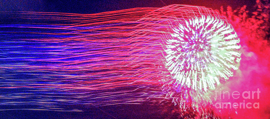 Fireworks Photograph - Fireworks In Abstract 2019 by D Davila