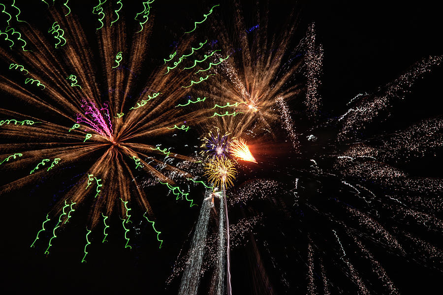 4th Of July Photograph - Fireworks 2019 Six by Marnie Patchett