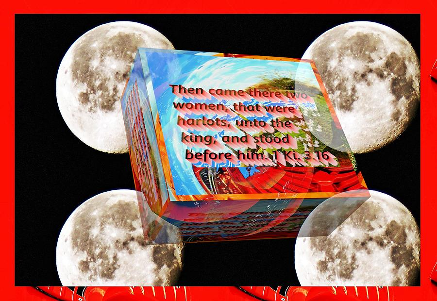 Fireworks box little planet as art with text as a box by Karl Rose