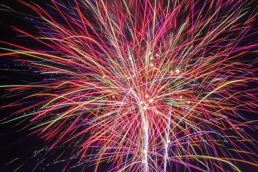 Fireworks Photograph - Fireworks Glow by Christine Buckley