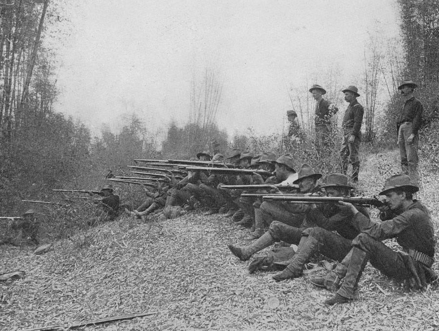 Firing On Insurgents Photograph by Hulton Archive