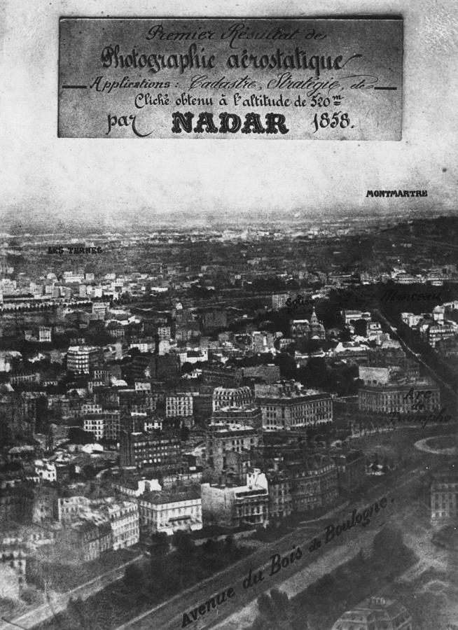 First Aerial Photo Photograph by Nadar