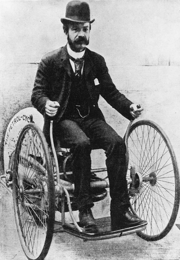 First Biker Photograph by Illustrated London News